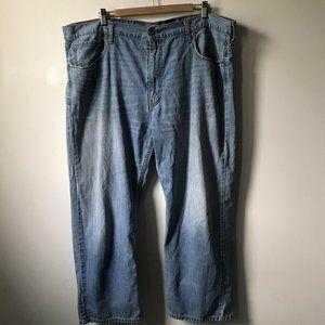 Levis 569 Bootcut Light Wash Jeans Size 42x30